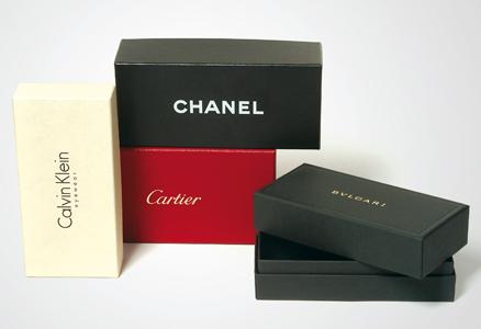 Scatola brand vari: Chanel, Cartier, Calvinklein